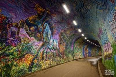Photo of Colinton Tunnel art