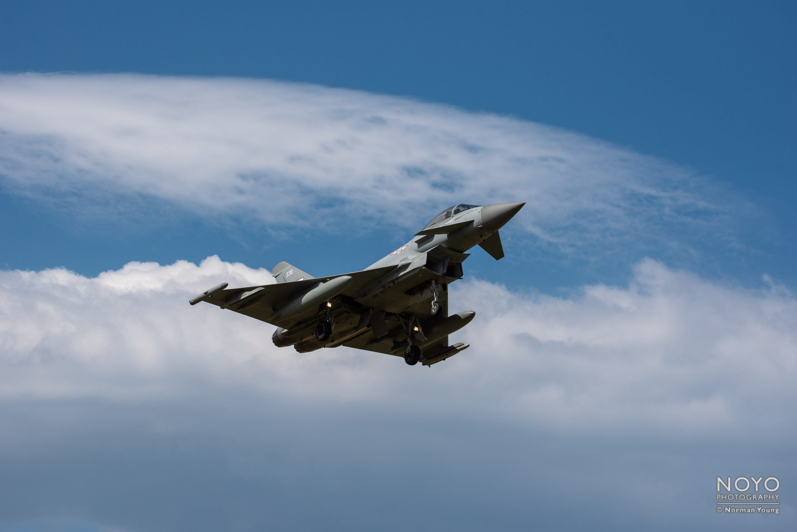 Photo of RAF Typhoon aircraft in flight by Norman Young
