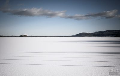 Photograph of Loch Leven in the snow by Norman Young